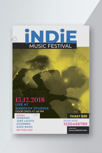 Dépliant du concert du festival de musique Modèle PSD