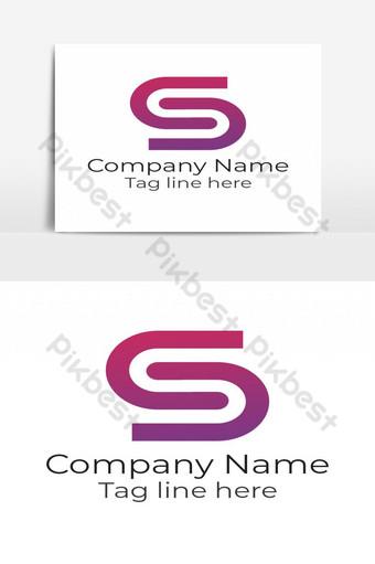 Elemento gráfico de vector de diseño abstracto de logotipo de letra s Elementos graficos Modelo PSD