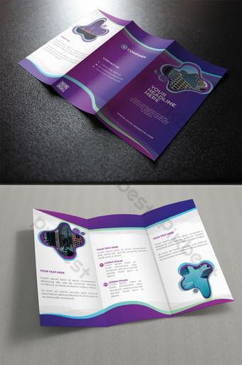 шаблоны брошюр корпоративного бизнеса втрое шаблон AI