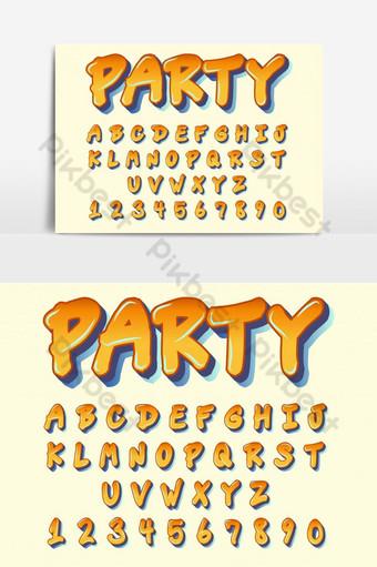 graffiti naranja comics fuente artística elemento gráfico vectorial Elementos graficos Modelo EPS