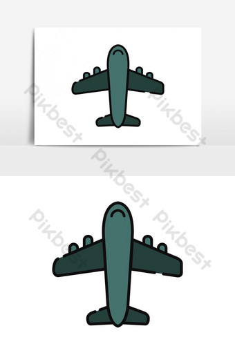 elemento gráfico de vector de icono de avión Elementos graficos Modelo AI