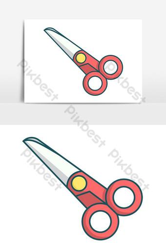 tijera simple en colores pop elemento gráfico vectorial Elementos graficos Modelo PSD
