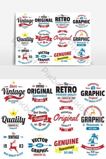 elemento gráfico de vector de paquete de icono fabuloso retro vintage Elementos graficos Modelo AI