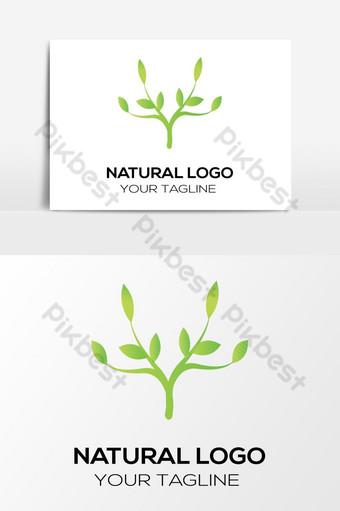 الورقة الخضراء الطبيعية شعار مفهوم عنصر الرسم ناقلات صور PNG قالب EPS