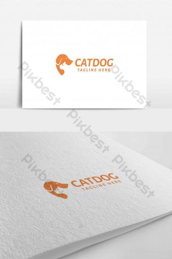naranja animal mascota perro y gato para el logotipo de la tienda y el hospital Modelo AI