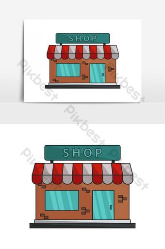 elemento gráfico de vector de icono de tienda Elementos graficos Modelo EPS