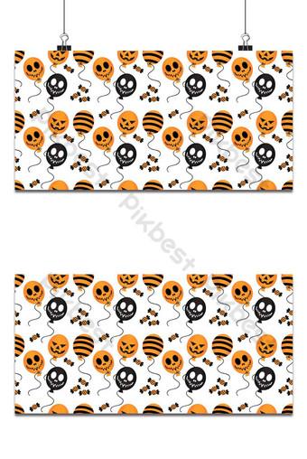 Globo de Halloween y dulces de patrones sin fisuras Fondo de decoración de Halloween Fondos Modelo EPS