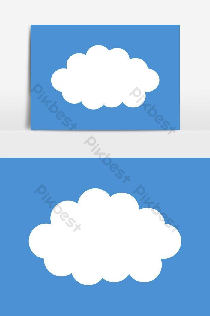 yếu tố đồ họa vector biểu tượng đám mây