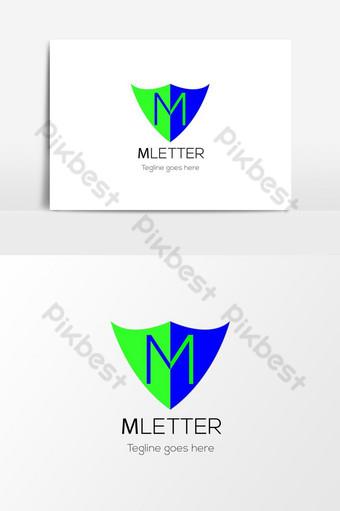 elemento gráfico del vector del icono del logotipo del negocio de la letra m Elementos graficos Modelo AI