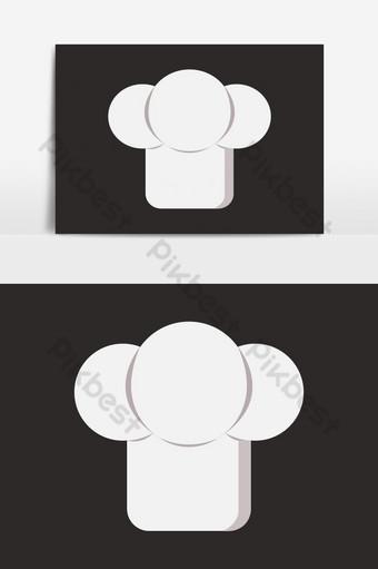elemento gráfico de vector de icono de sombrero de chef Elementos graficos Modelo EPS