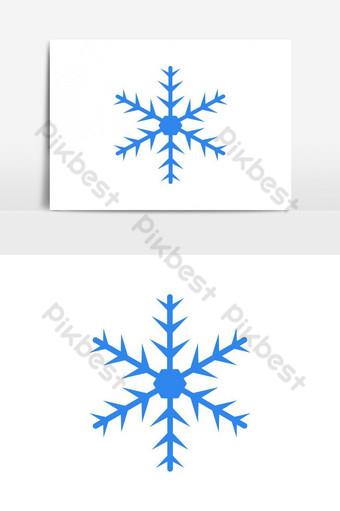 elemento gráfico de vector de icono de copo de nieve Elementos graficos Modelo EPS