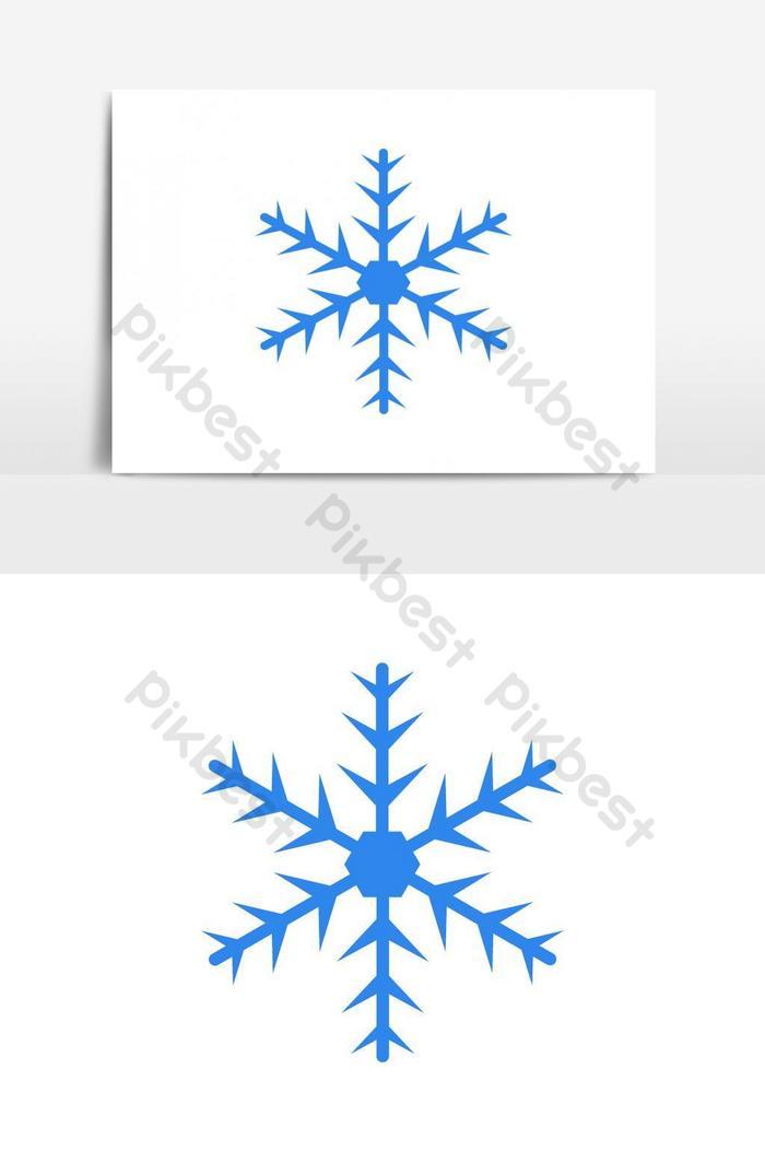 elemento gráfico vetorial de ícone de floco de neve