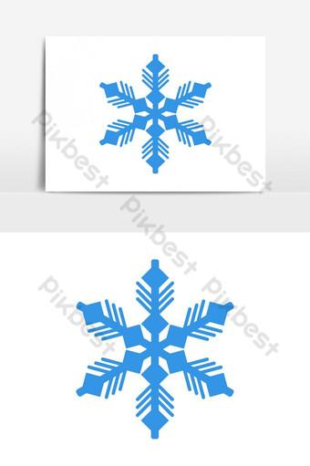 elemento gráfico de vector de copo de nieve Elementos graficos Modelo EPS