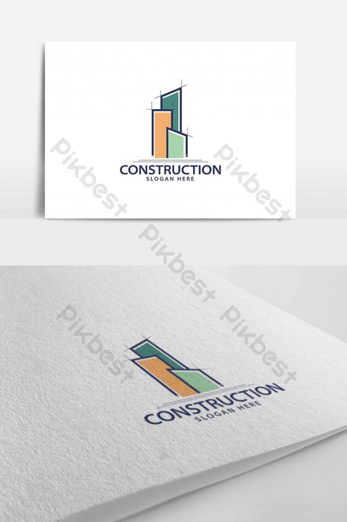 Konstruksi Logo Bangunan Realestate Templat Ai Unduhan Gratis Pikbest