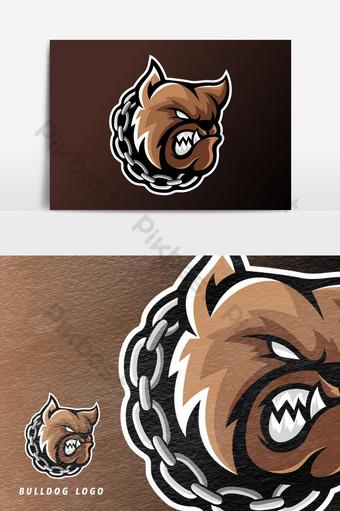 enojado bulldog perro animal esport juego mascota logo vector elemento gráfico Elementos graficos Modelo AI