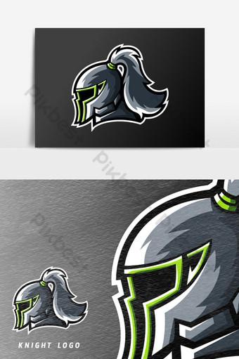 knight kingdom spartan sport o esport gaming mascota logo vector elemento gráfico Elementos graficos Modelo AI