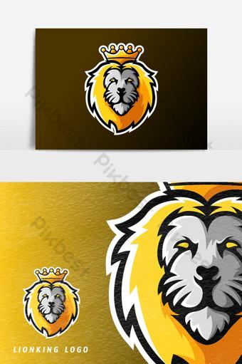 león rey animal deporte o esport juego mascota logo vector elemento gráfico Elementos graficos Modelo AI
