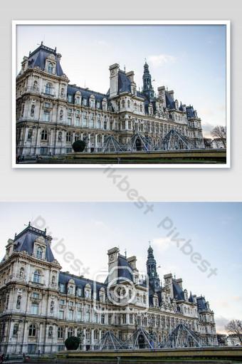 فندق دي فيل يقع في باريس فرنسا الصورة التصوير قالب JPG