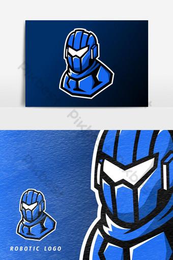 moderno futurista ai deporte robótico o esport juego mascota logo vector elemento gráfico Elementos graficos Modelo AI