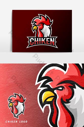 elemento gráfico del vector del logotipo de la mascota del deporte o del deporte del asador de pollo Elementos graficos Modelo AI