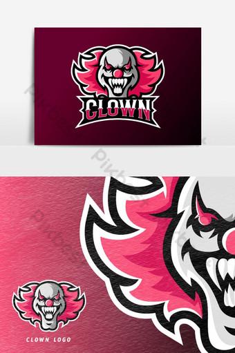 payaso loco joker máscara deporte o esport juego mascota logo vector elemento gráfico Elementos graficos Modelo AI