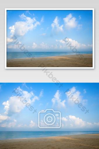 Tropical beach. Sky and sea photo Photo Template JPG