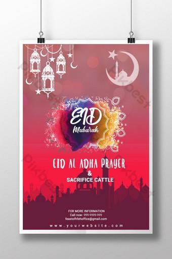 Plakat Id al-Adha Szablon PSD