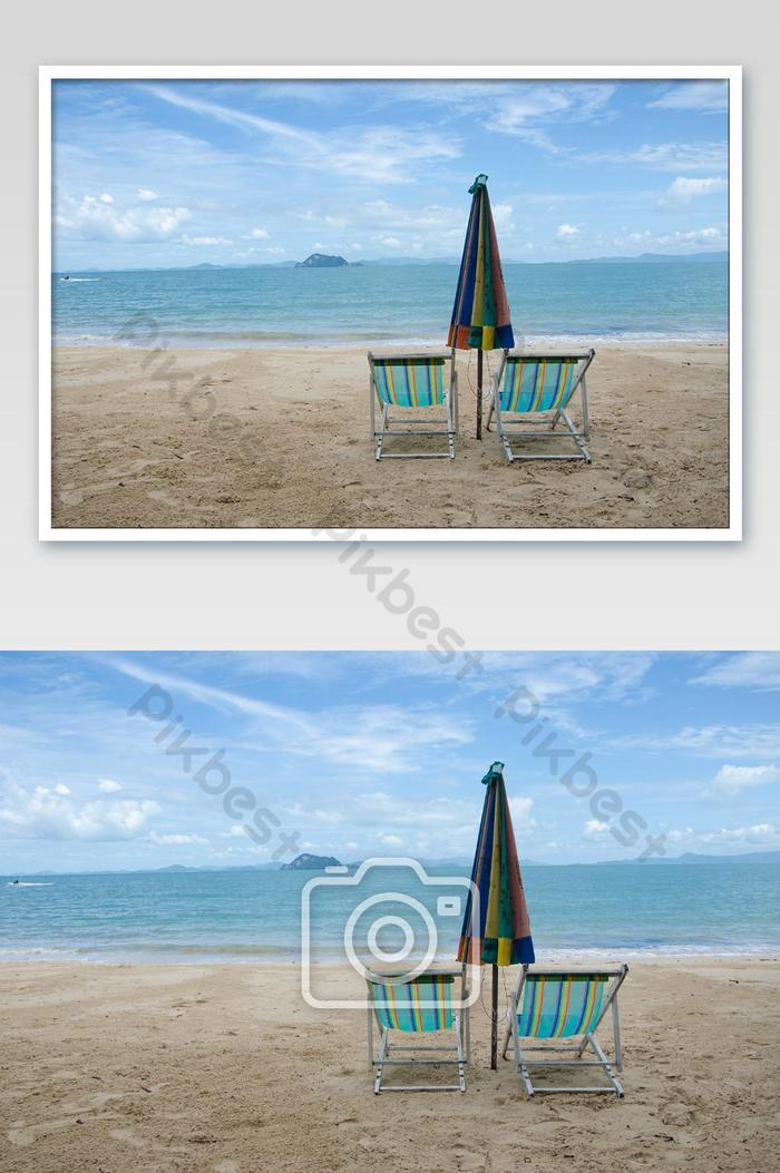 Beach Chairs And Umbrellas In The Summer Holidays On The Island Of The Sun Photo Photo Jpg Free Download Pikbest
