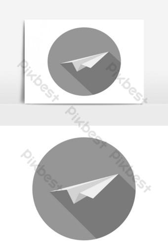 elemento gráfico de vector de icono de avión de papel Elementos graficos Modelo EPS