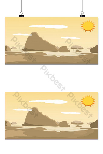 Mountain view landscape and hills in south of Thailand (Samed Nang Chee) background Backgrounds Template EPS