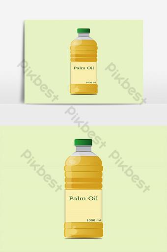 elemento gráfico de vector aislado de diseño de botella de aceite de palma y aceite vegetal Elementos graficos Modelo EPS