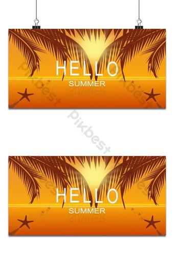 vector de verano en el mar fondo de cartel de fiesta de playa Fondos Modelo EPS