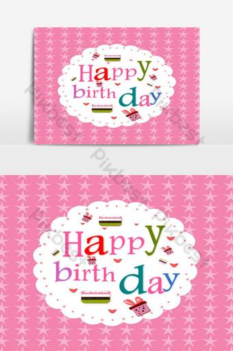 عيد ميلاد سعيد بطاقة بريدية اللون الأبيض الإطار ناقلات عنصر الرسم صور PNG قالب EPS