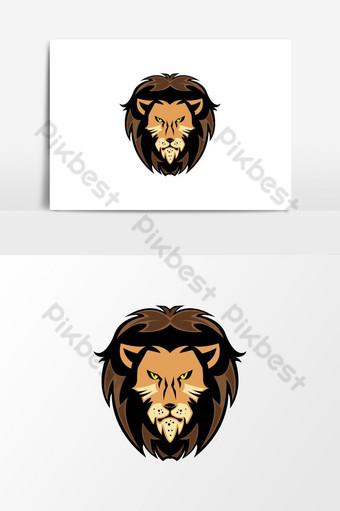 elemento gráfico del vector del logotipo del rey león Elementos graficos Modelo AI
