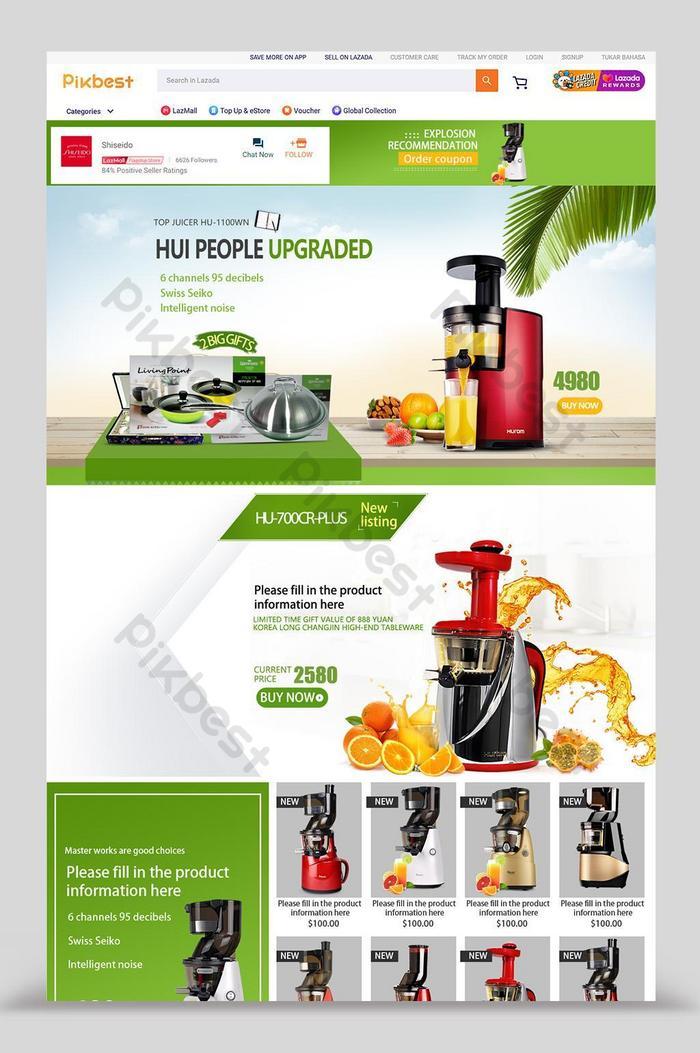 conception de maison d'appareils électroménagers numériques lazada green