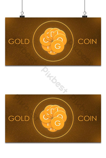Free Glitch Gold Coin Effect Background Backgrounds Template PSD