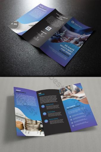 креативная брошюра, сложенная втрое шаблон PSD