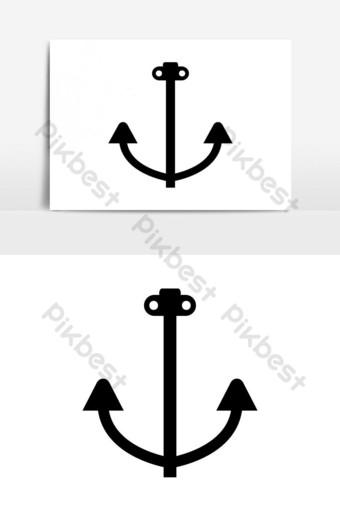 elemento gráfico de vector de icono de ancla Elementos graficos Modelo EPS