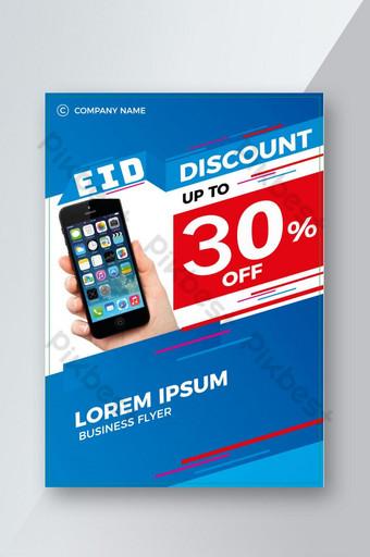 Eid vente flyer affiche produits discount flyer Modèle AI