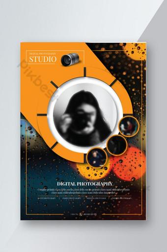 pamflet fotografi profesional Templat AI