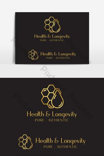 شركة العسل الإبداعية العلامة التجارية شعار ناقلات عنصر الرسم صور PNG قالب AI