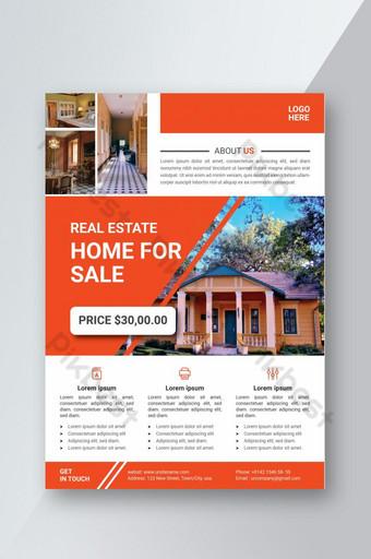 Modèle de conception de flyer de vente immobilier d'entreprise Modèle AI