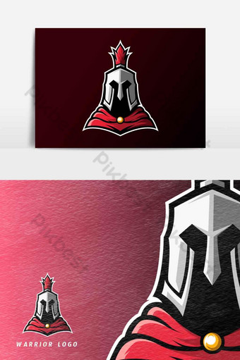 guerrero espartano caballero romano deporte esport logo plantilla vector elemento gráfico Elementos graficos Modelo AI