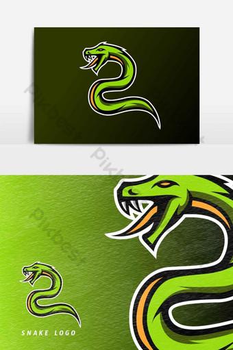 serpiente verde víbora dragón veneno mascota esport logo vector elemento gráfico Elementos graficos Modelo AI