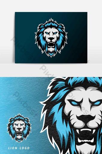 enojado león jaguar mascota deporte esport logo plantilla vector elemento gráfico Elementos graficos Modelo AI
