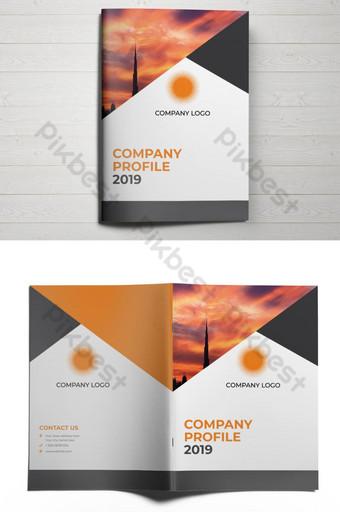 обложка брошюры креативной компании шаблон AI