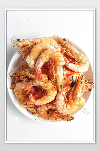 Shrimp grilled barbecue seafood photo Photo Template JPG
