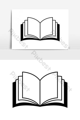 elemento gráfico de vector de icono de libro Elementos graficos Modelo EPS