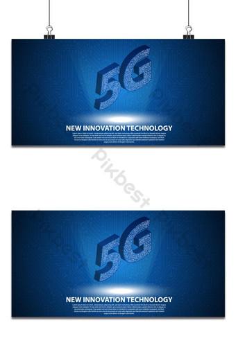 La nueva tecnología de innovación 5g con placa de circuito es de fondo Fondos Modelo AI
