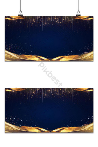 Luxury background asul na background gintong background Background Template PSD